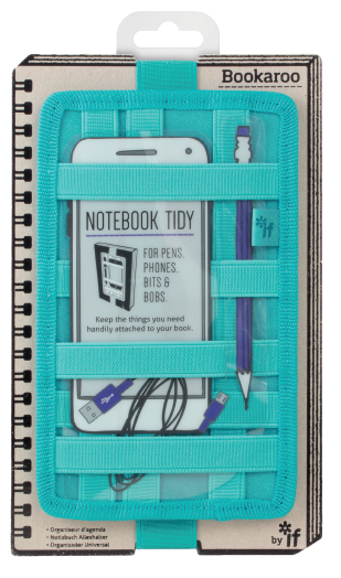 BOOKAROO NOTEBOOK TIDY - TURQUOISE