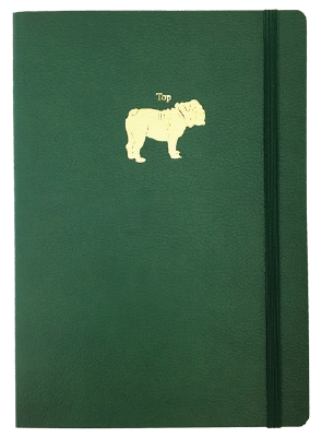 MOTIF JOURNAL -DOG -  DARK GREEN