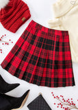 Pretty in plaid pleated skirt