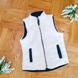 Reversible puffer & teddy vest - Black