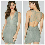 Sexy in sage bodycon dress