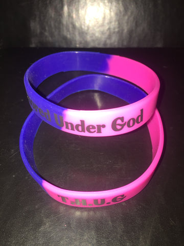 Pink and Royal Blue (Black) Thug Wristbands