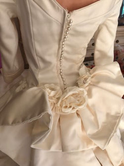 Union Made Vintage Marie Antoinette Victorian Wedding Bow Dress 2 4 Ivory
