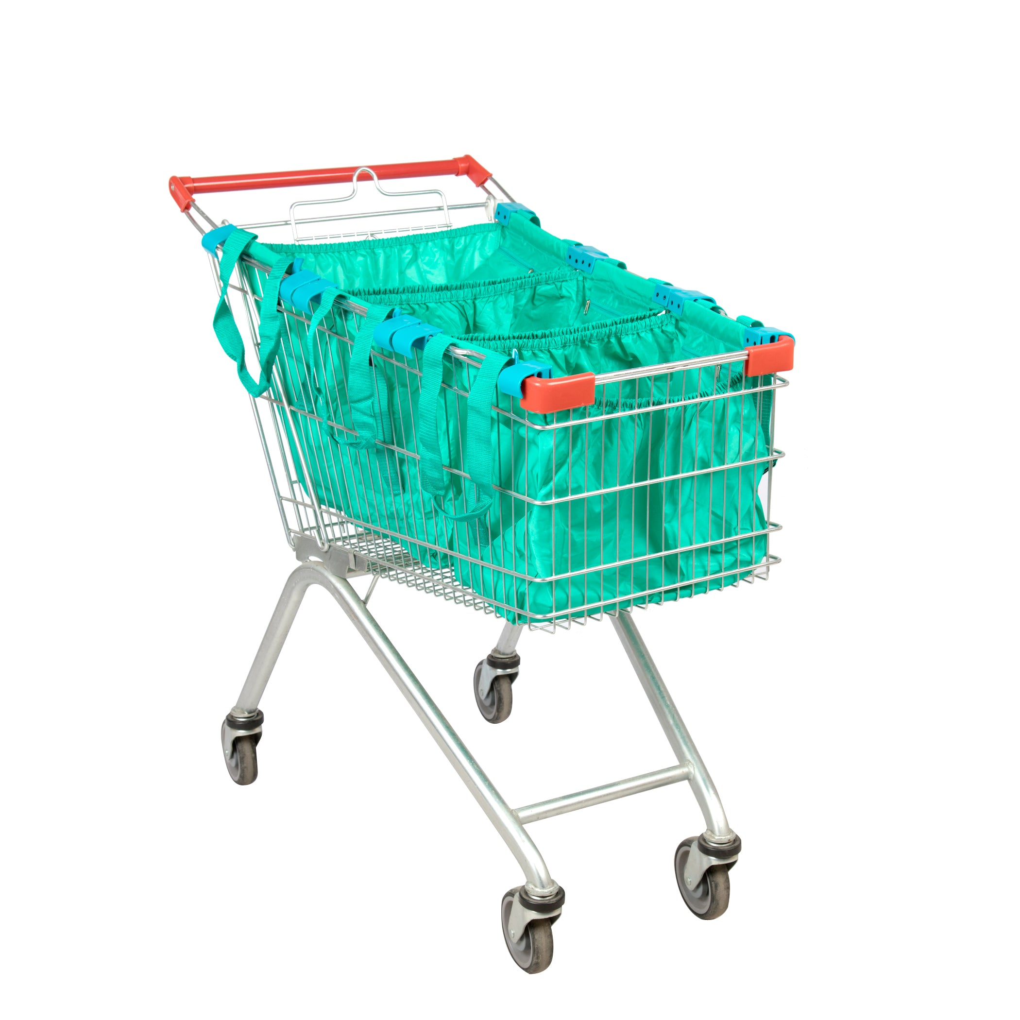 Handy Sandy Reusable Repeat Shopping Universal Cart Bags & Grocery Organizer (Green) - handy | sandy