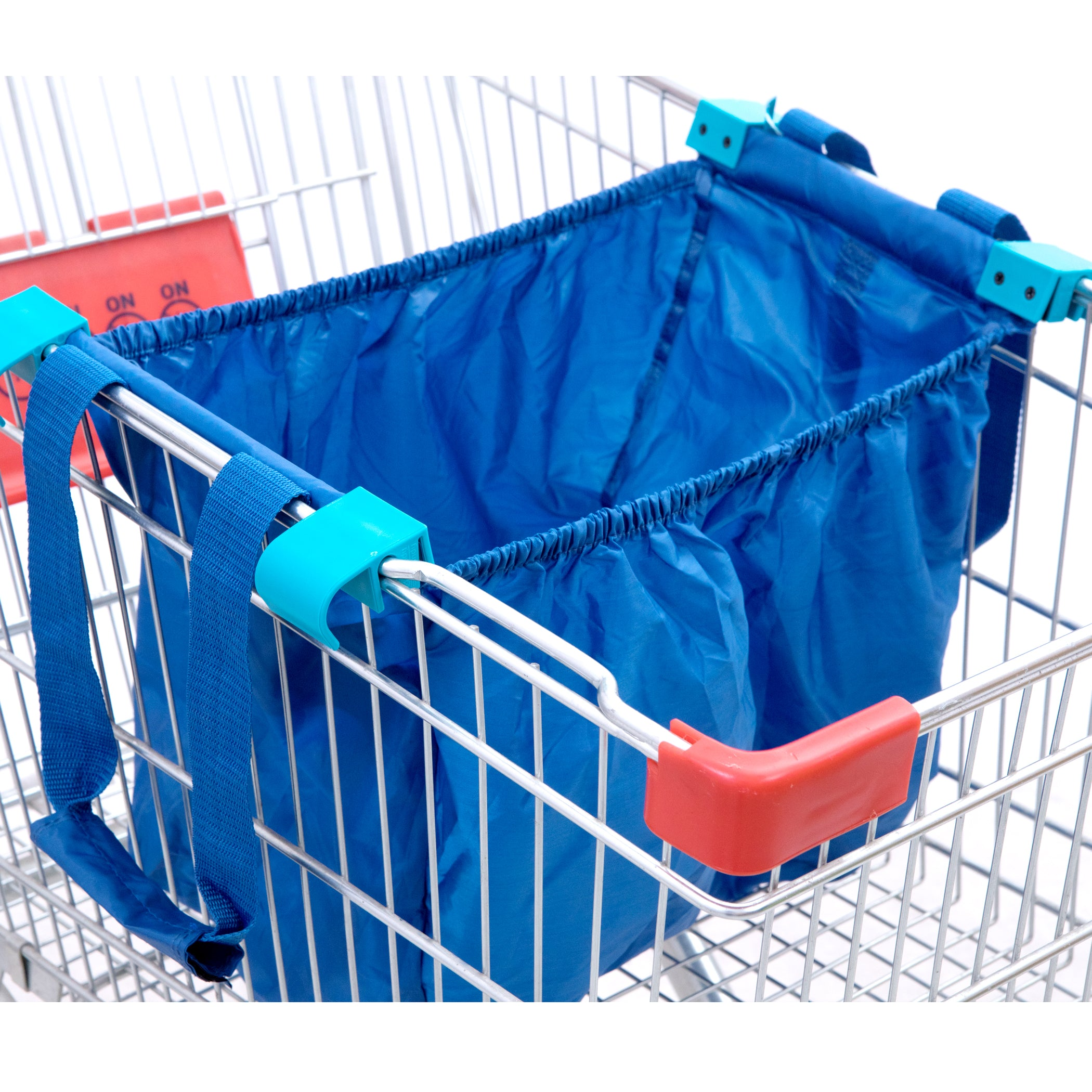 Handy Sandy Reusable Repeat Shopping Universal Cart Bags & Grocery Organizer (Blue) - handy | sandy