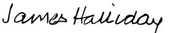 James Halliday Signature