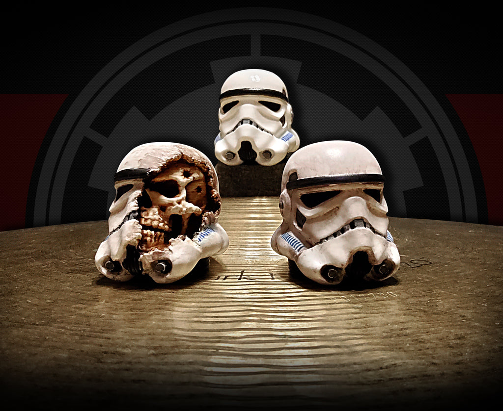 Limited run! Storm Trooper toppers and guitar knobs!