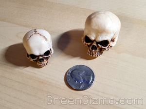 Grim skull cymbal toppers