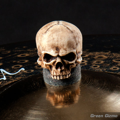 (2-Pack) Large grim skull cymbal topper