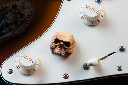 (Single Pack) Grim Skull Guitar Knob