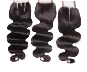 BRAZILIAN WAVE/DEEP WAVE/DEJA STRAIGHT/MALAYSIAN CURLY CLOSURES 4X4 AND HD