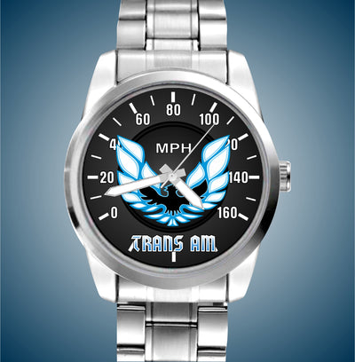 "2nd Gen Iconic Trans Am ""Fire Chicken"" Luxury Stainless Watch - FirebirdFanBase.com"