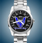 160 MPH Luxury Speedometer 4th Gen Trans Am Stainless Mens Watch - FirebirdFanBase.com
