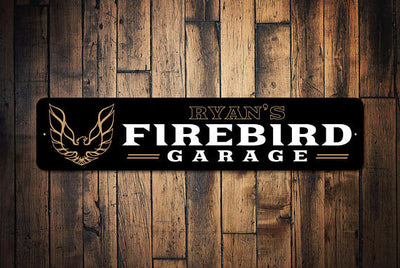 Firebird Garage Aluminum Sign Personalized - FirebirdFanBase.com