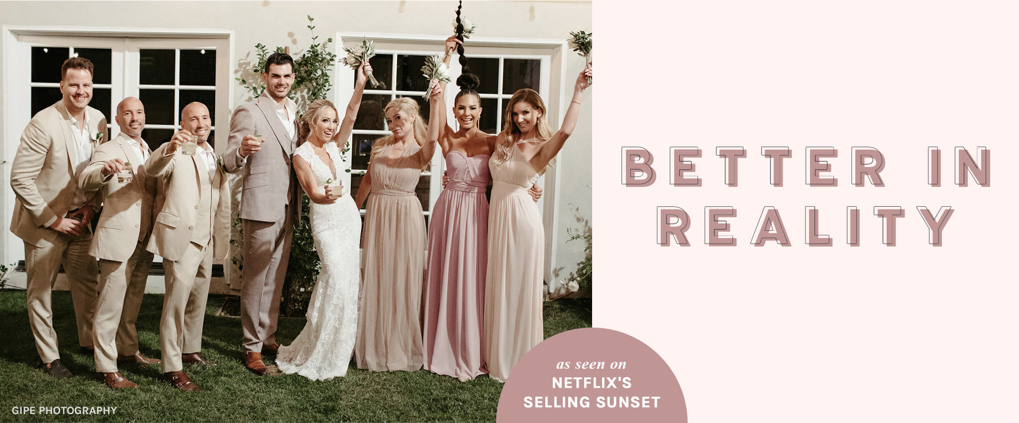 Shop the bridesmaid dress palette featured on Selling Sunset