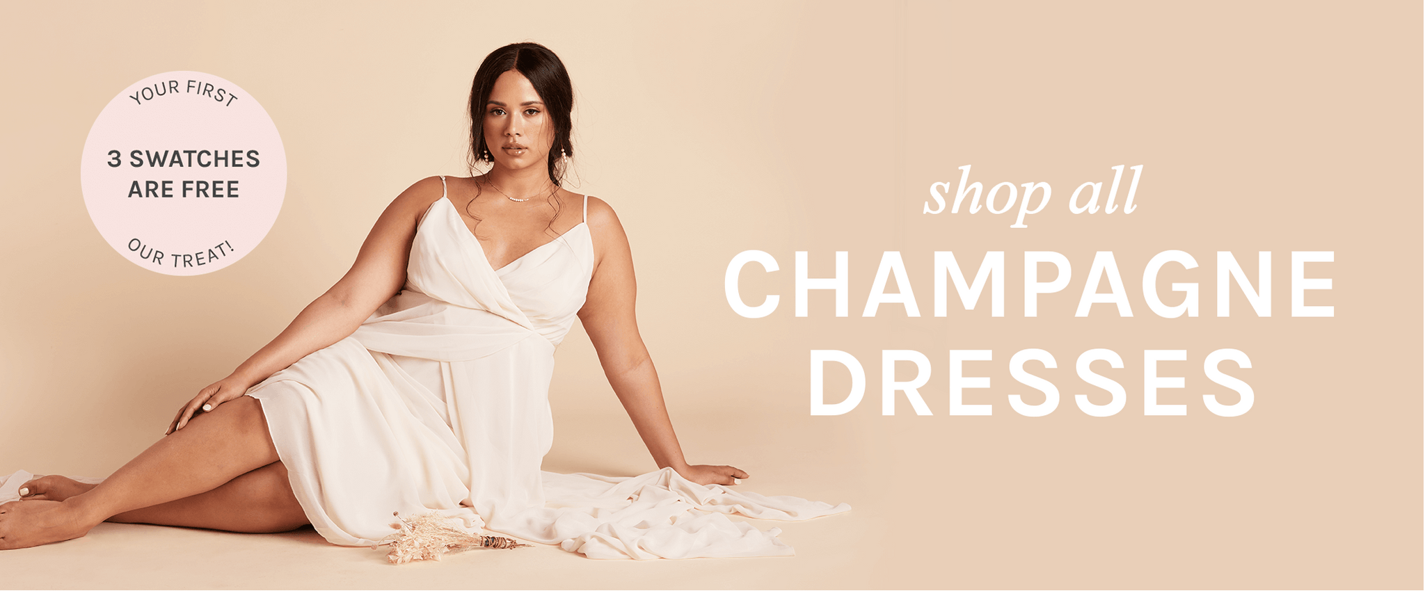 shop all Champagne dresses | your first 3 swatches are free, our treat  Birdy Grey
