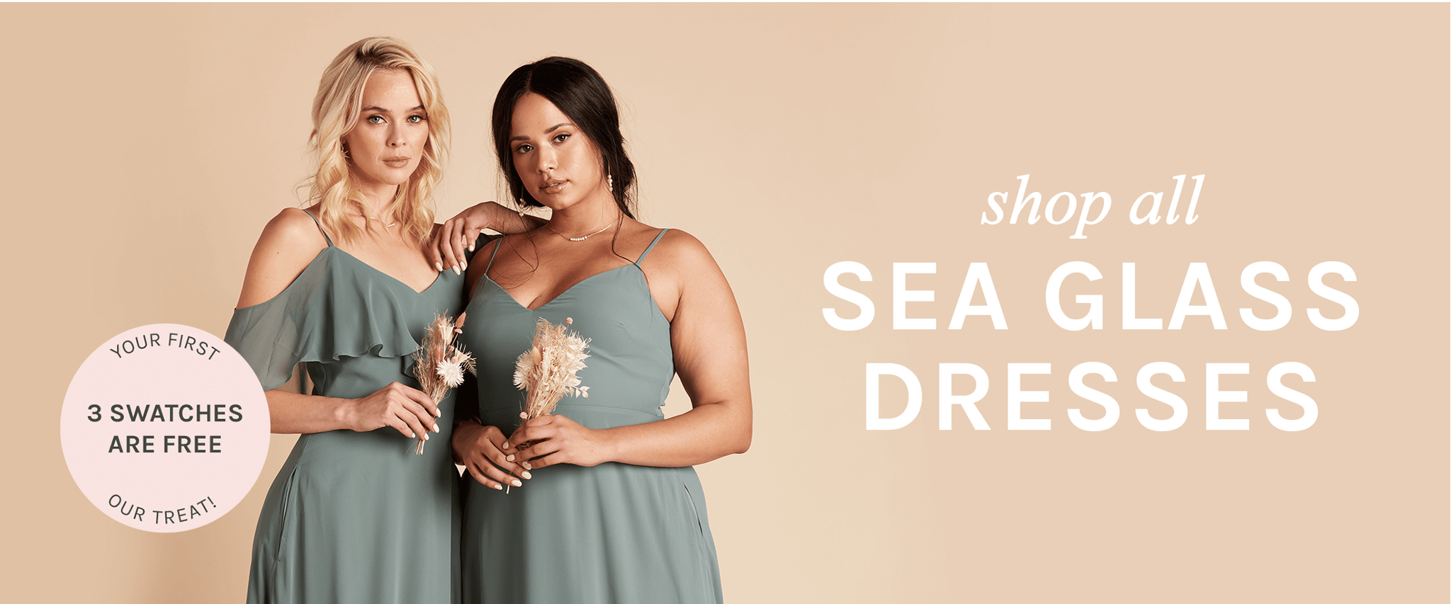 shop all Sea Glass dresses   your first 3 swatches are free, our treat  Birdy Grey