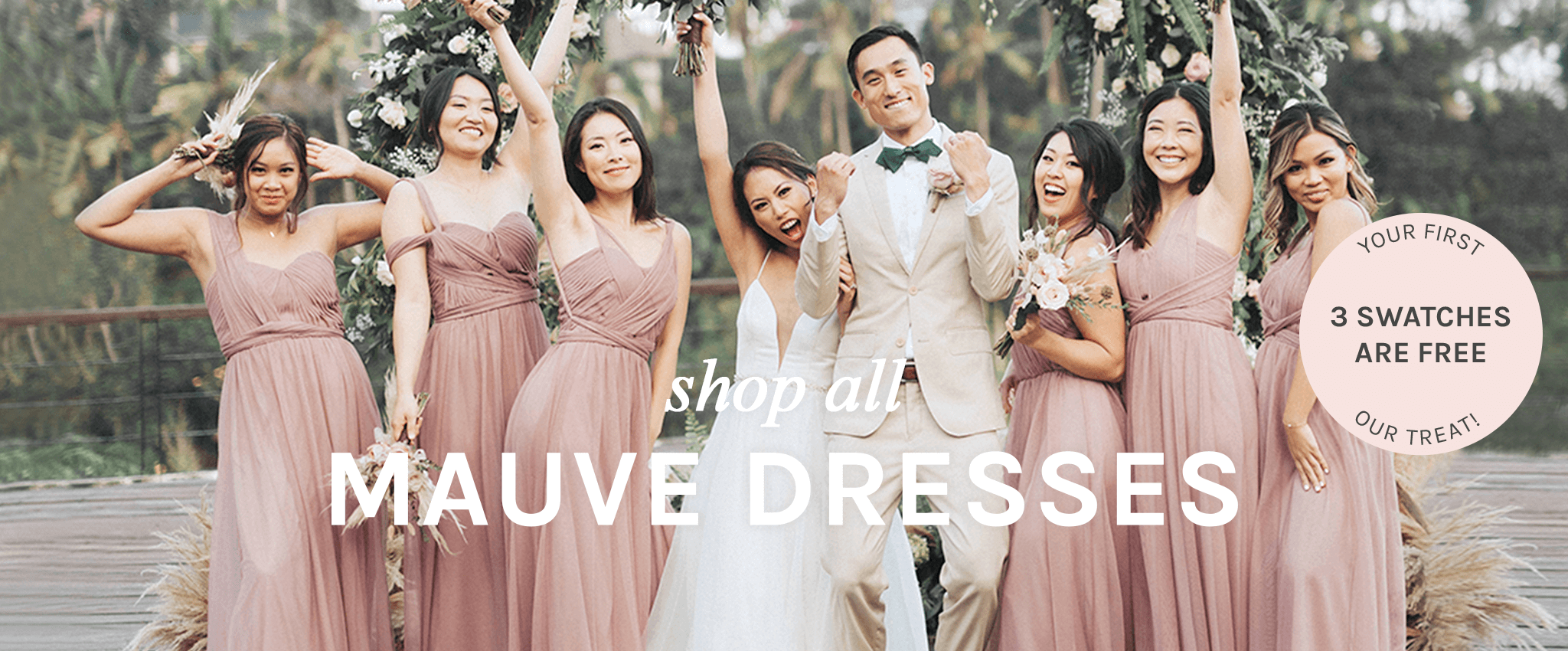 shop all Mauve dresses   your first 3 swatches are free, our treat  Birdy Grey