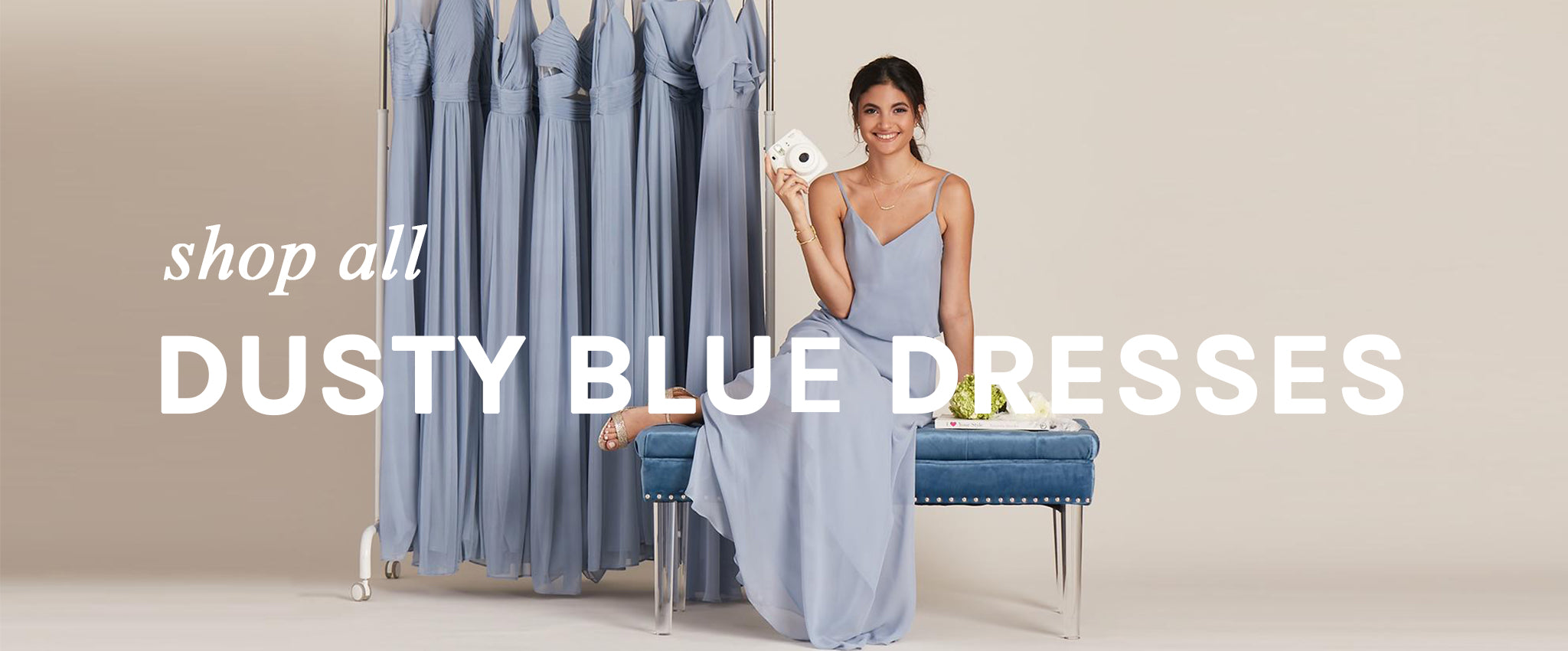 Dusty Blue Bridesmaid Dresses Under $100 | Birdy Grey