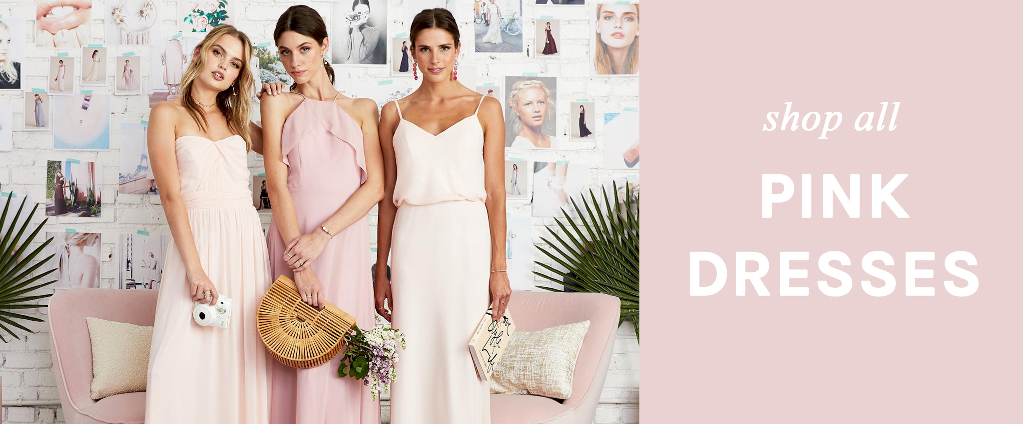 Blush Pink Rose Bridesmaid Dresses Under $100 | Birdy Grey