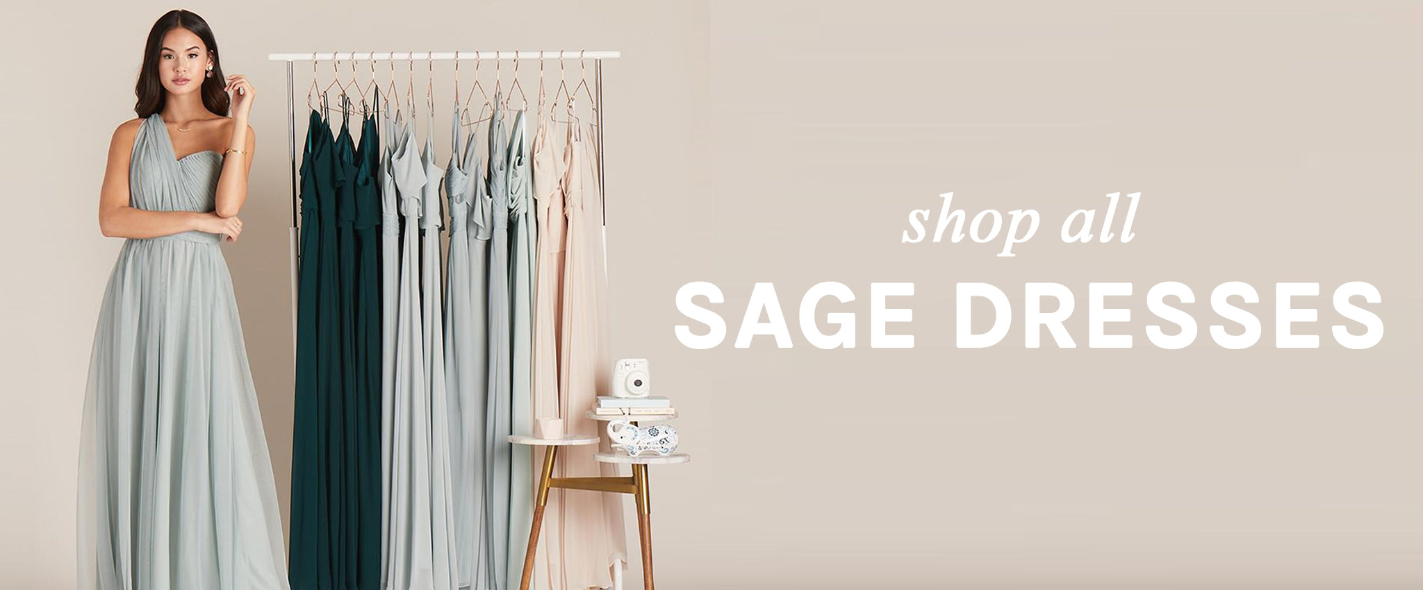 Sage Green Bridesmaid Dresses Under $100 | Birdy Grey