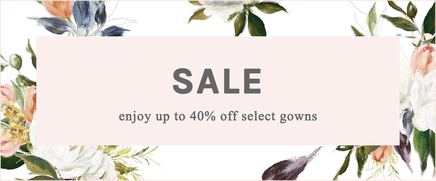 Enjoy up to 40% off sale items