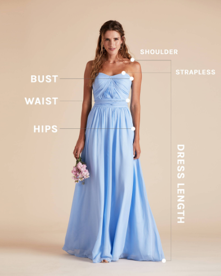 How to measure for a bridesmaid dress by Birdy Grey