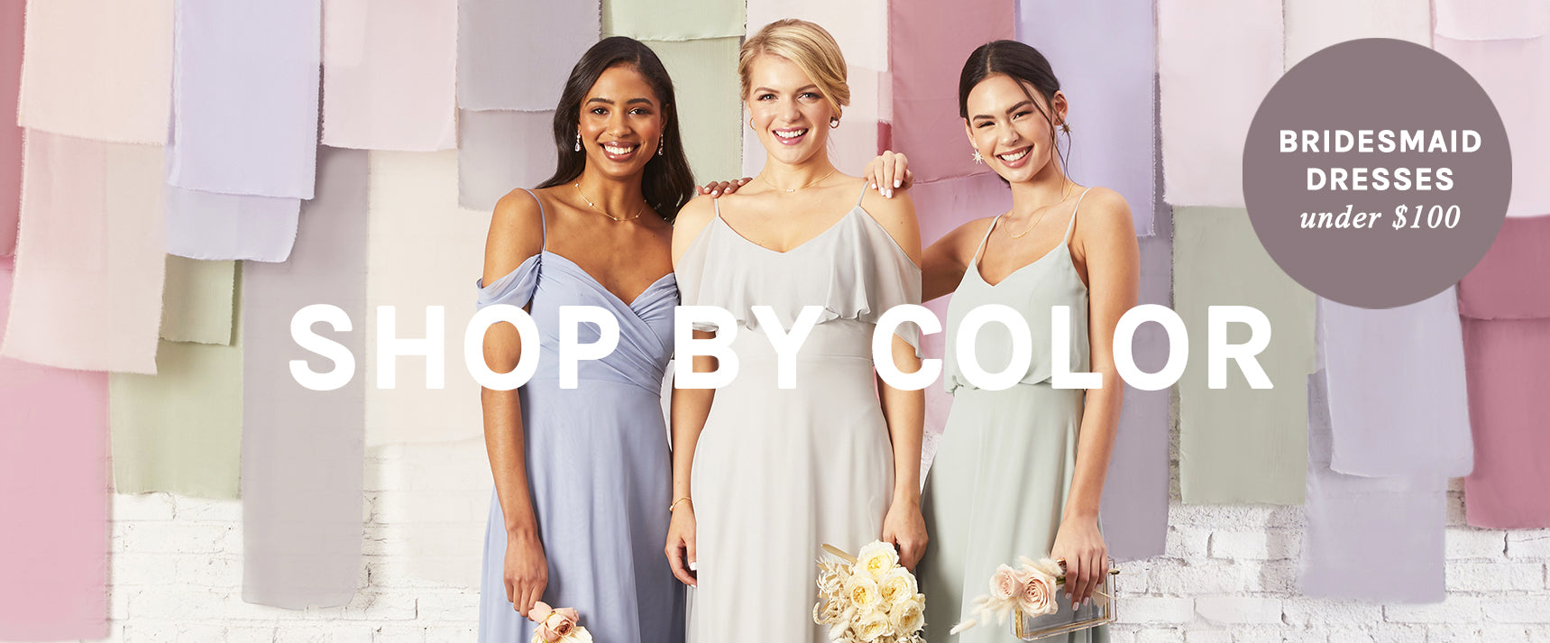 Shop Bridesmaid Dresses Under $100 By Color