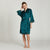 Satin Lace Robe - Emerald