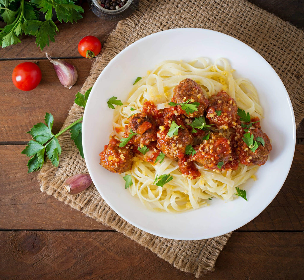 [Frozen] Beef Meatball Bolognese Linguine