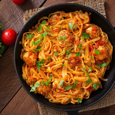 [Frozen]  Veggie Ball Arrabiata Linguine