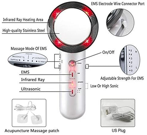 BESTSELLER RX - HOSPITAL GRADE 3 IN 1 ULTRASONIC SLIMMING AND FAT REMOVAL HOME DEVICE FOR FACE AND BODY - FREE FAST SHIPPING