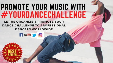 Promote your music with your custom dance challenge - We will invite 50000 active dancers worldwide to join your dance challenge