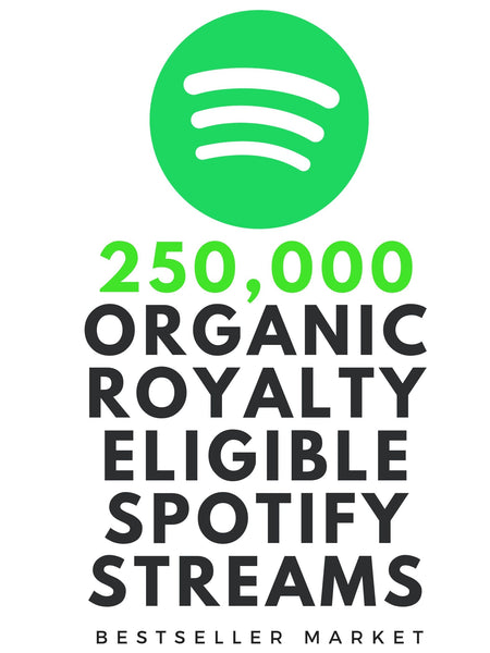 WE WILL PROMOTE YOUR MUSIC TO 250,000 ROYALTY ELIGIBLE REAL STREAMS + 10000 FOLLOWERS ON SPOTIFY | BESTSELLER MARKET