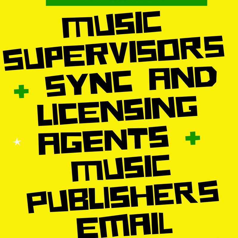 2020 Top Sync And Licensing Agents and Top Music Supervisors Email List |  Updated February 2020