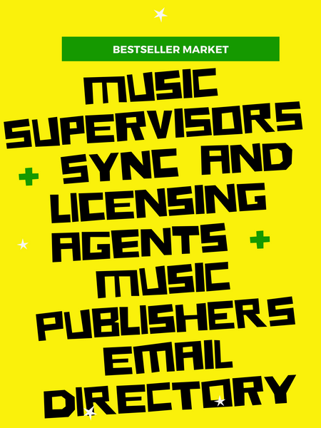 MUSIC PROMO | 2019 MUSIC PUBLISHERS FILM SYNC AND LICENSING AGENTS EMAIL LIST | INSTANT DOWNLOAD