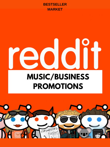 MUSIC PROMOTION | WE WILL PROMOTE YOUR LINK ON REDDIT 3 TIMES WITH 100 REAL UPVOTES  | BESTSELLER MARKET