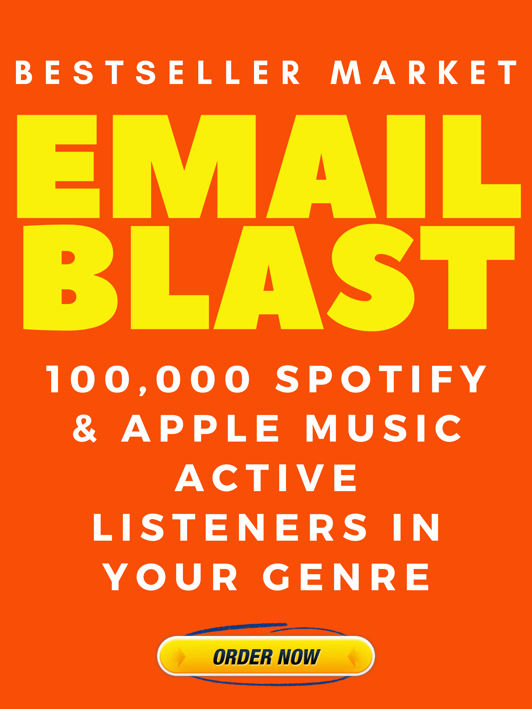 WE WILL EMAIL YOUR SONG 100,000 SPOTIFY, APPLE MUSIC AND DEEZER