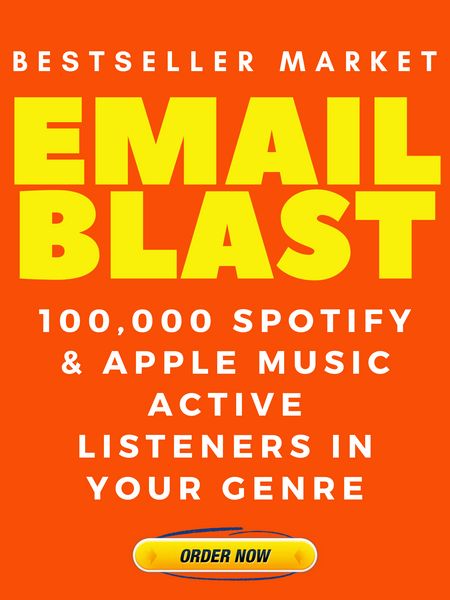EMAIL YOUR SONG 100,000 ACTIVE LISTENERS | BESTSELLER MARKET