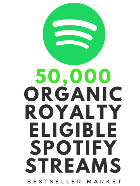 WE WILL PROMOTE YOUR MUSIC TO 50,000 ROYALTY ELIGIBLE REAL STREAMS +  2000 FOLLOWERS ON SPOTIFY | BESTSELLER MARKET