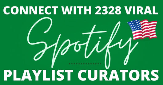 promote your song to 2328 popular playlist curators in USA and all over the world