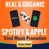 Massive promotion with organic exposure to 100 million active playlist listeners