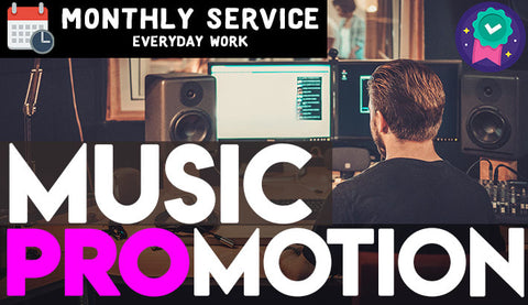 Promote your music organically non-stop for 30 days WITH PROOF OF WORK