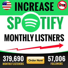 Organic spotify promotion to increase monthly listeners | Bestseller Market