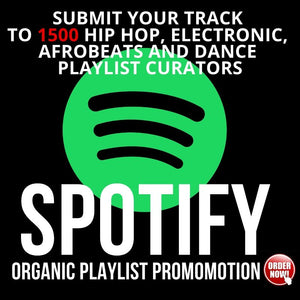 Submit your track to 1500 hip hop, electronic or dance playlist curators