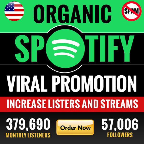 Real and organic promotion to increase your spotify monthly listeners