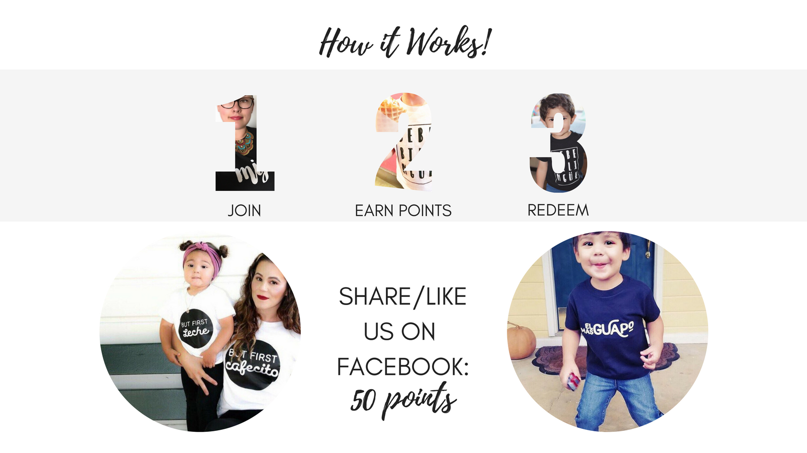 Steps to earn rewards Vince and Soph Apparel