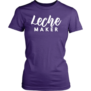 Leche Maker Adult Women's Shirt (Dark)