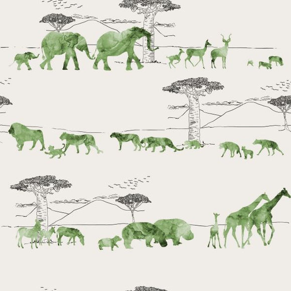 FABArt Custom Print Fabric - Showcase SA Designer Lola Graphic Images - African Safari