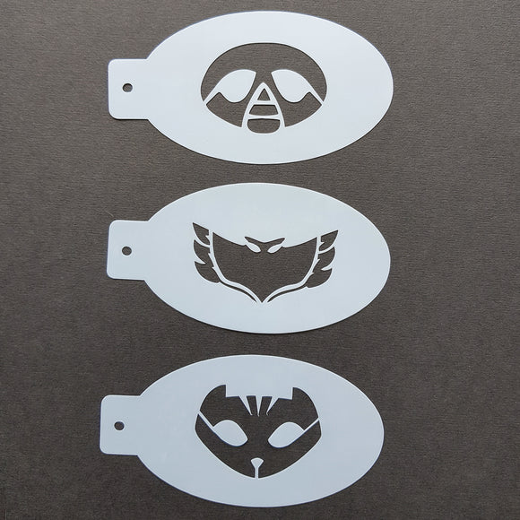 Face Painting Stencils - Set H - Three Mask Stencils - Masks